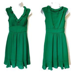 Anthropolotgie Maeve Green Ruffle Della Dress
